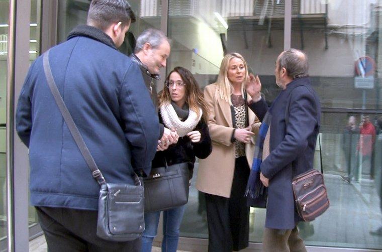 La coordinadora de C's a Balaguer a la sortida del judici