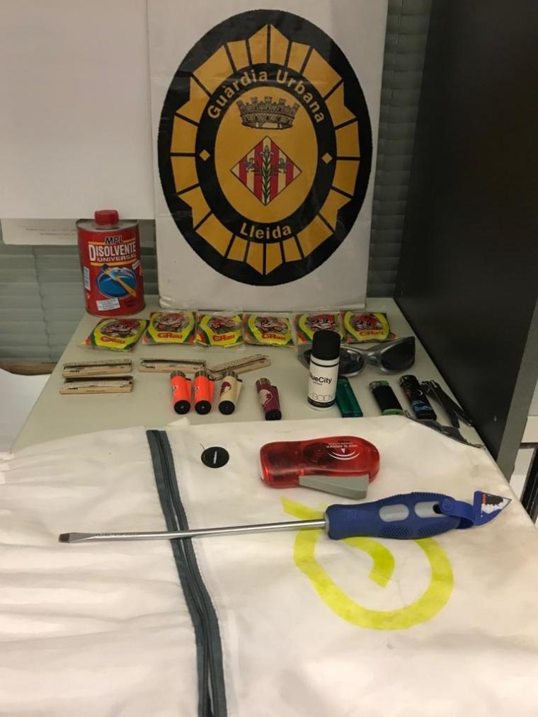 Material del robatori a Lleida