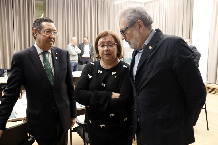 Ramon Farré, Rosa Maria Perelló i Fèlix Larrosa