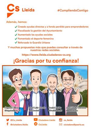 Cartell de Cs Lleida