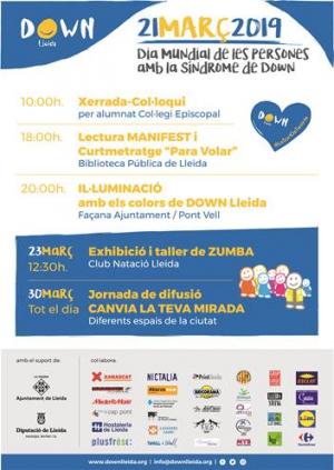 Cartell dels actes de Down Lleida