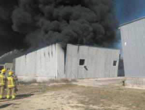 Imatge de l'incendi a Camarasa