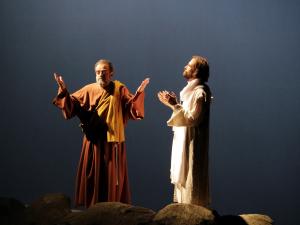 Imatge d'una de les escenes amb Jesús