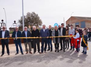 Inauguració de la rotonda d'Almenar