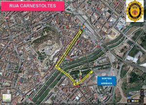 Mapa de la rua a Lleida