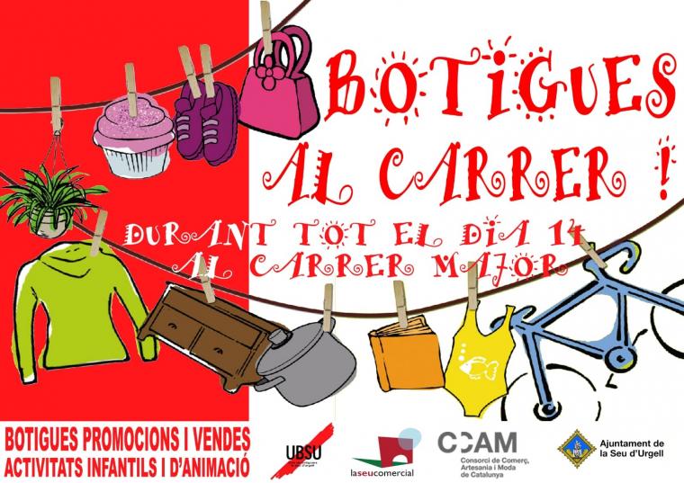 Botigues al carrer de la Seu d'Urgell