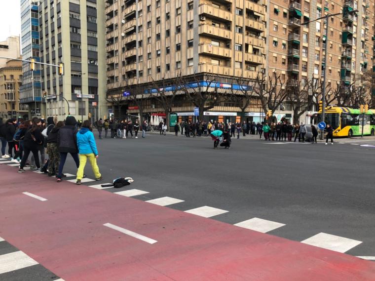 El tall a l'avinguda Catalunya de Lleida