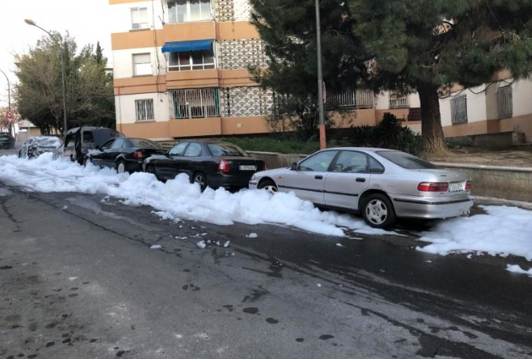 Els cotxes afectats a la Mariola