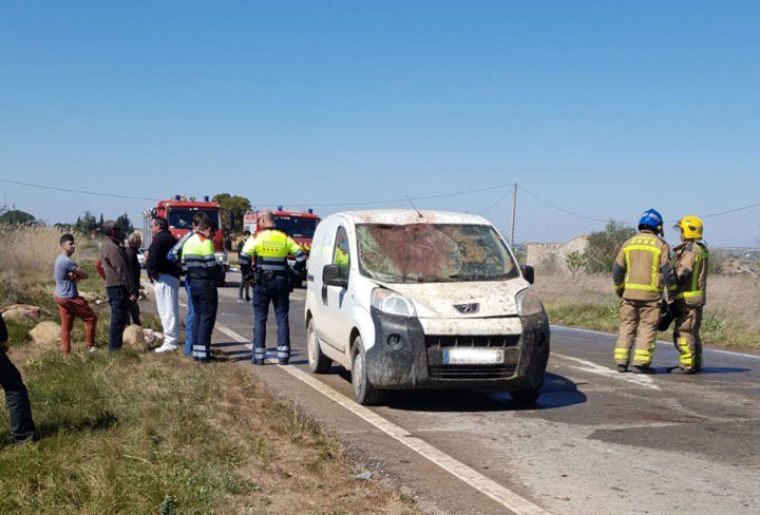 Estat d'un dels vehicles implicats en l'accident.