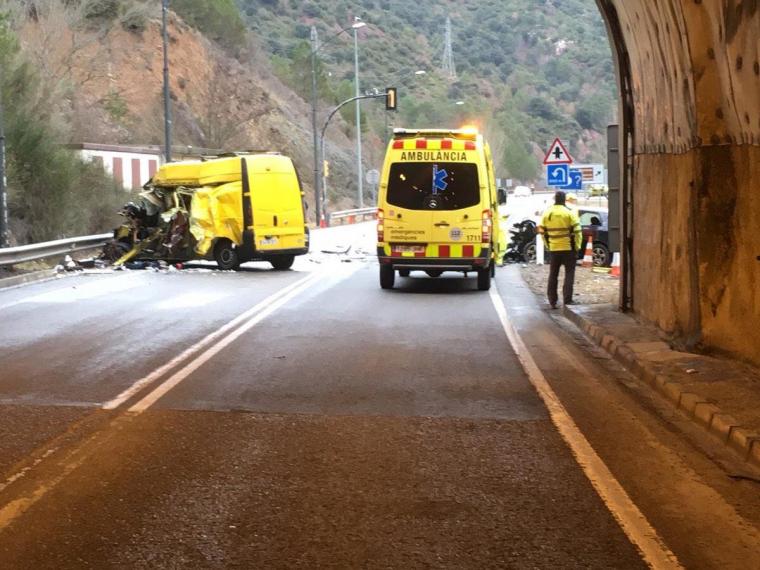 Imatge de l'accident a l'N-260