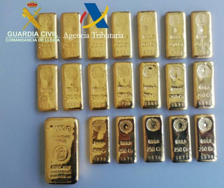 Imatge dels lingots d'or