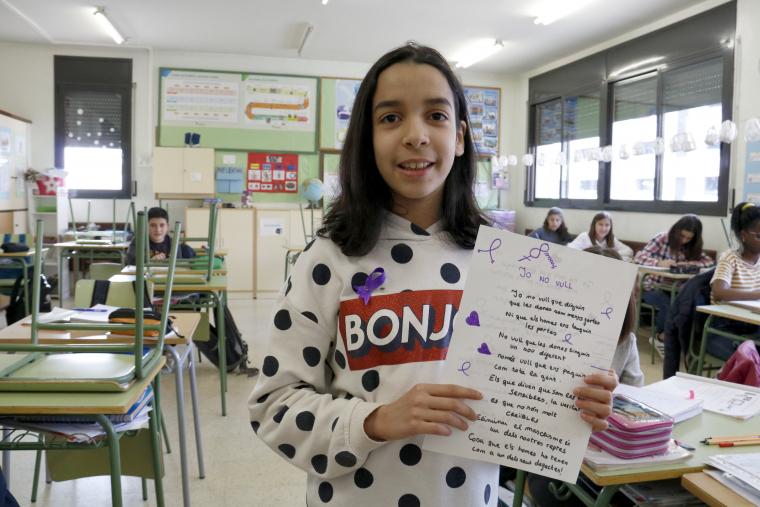 La Míriam Fellah, de 12 anys
