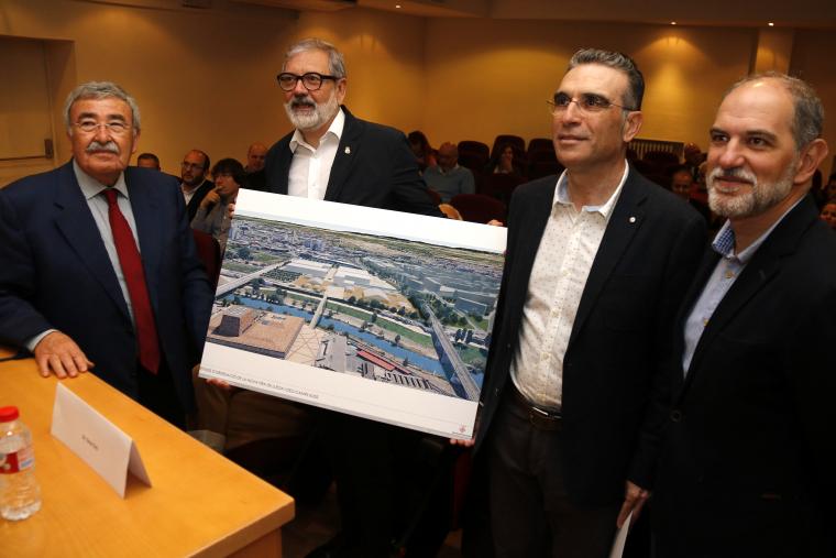 Imatge de la presentació del nou recinte firal de Lleida