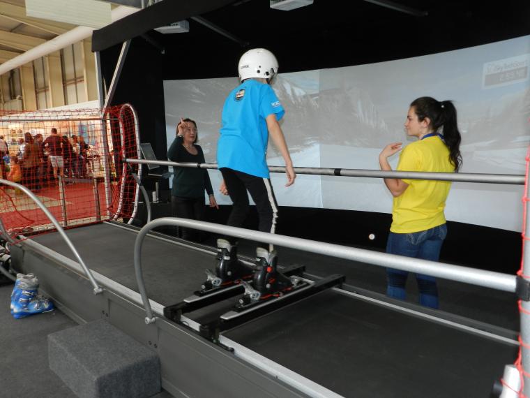 Un simulador d'esquí
