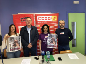 Els secretaris generals de CCOO i de la UGT de les Terres de Lleida