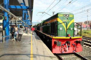 Imatge general del tren històric dels Llacs