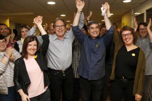 Pla obert on es pot veure al candidat d'ERC per Lleida al Congrés, Xavier Eritja