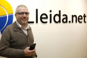 Pla obert on es pot veure el conseller delegat de Lleida.net, Sisco Sapena