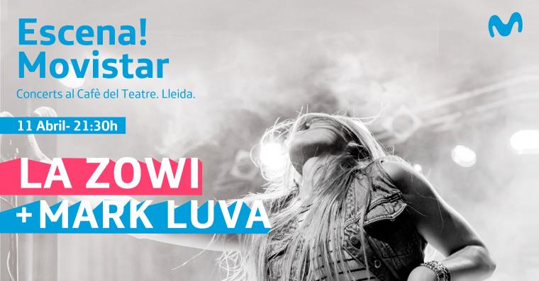 Cartell del concert de La Zowi i Mark Luva