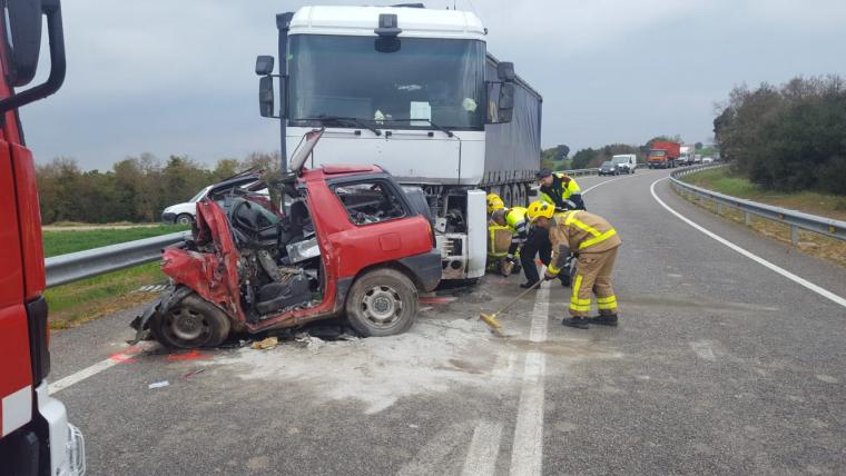 Accident mortal a Sant Guim de Freixenet.