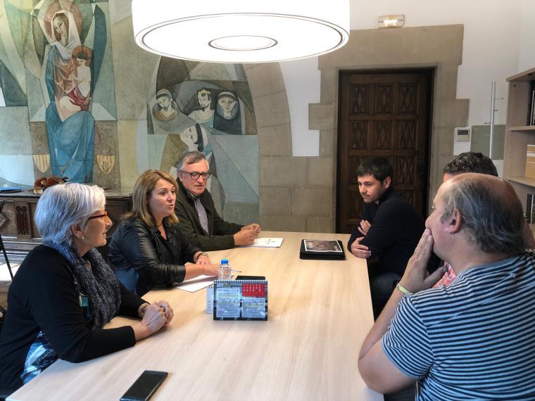 Imatge de la reunió amb membres de l'Ajuntament de Llardecans