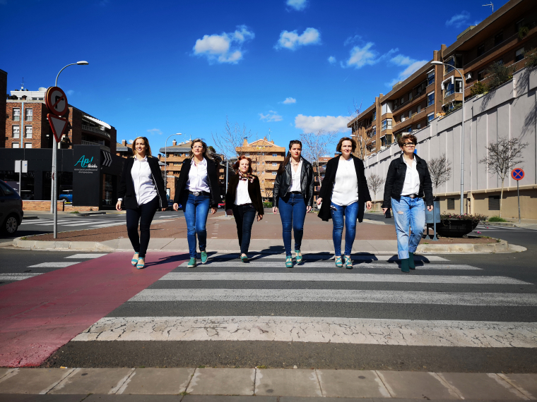 Imatge de les col·laboradores d'Ap! Lleida