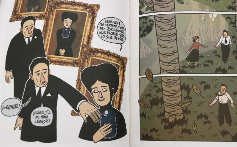 Una pàgina del còmic del tres darrers anys de la vida d'Antonio Machado