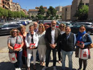 Fèlix Larrosa fent campanya electoral