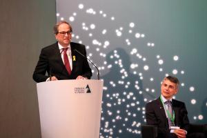 Pla mig del president de la Generalitat, Quim Torra