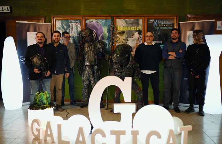 Imatge de grup dels responsables de la Mostra de Cinema de Terror de Ponent