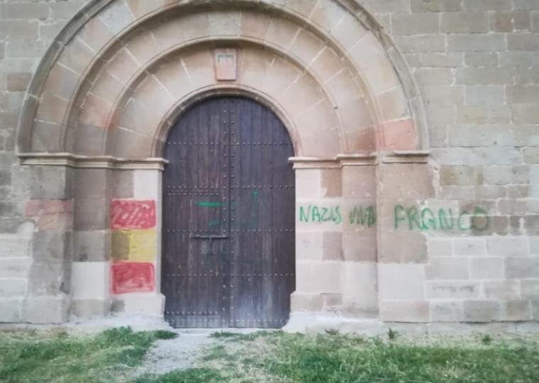 Imatge de les pintades al monestir de Balaguer