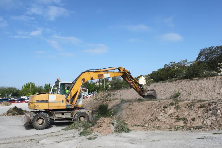 Imatge de l'inici de les obres