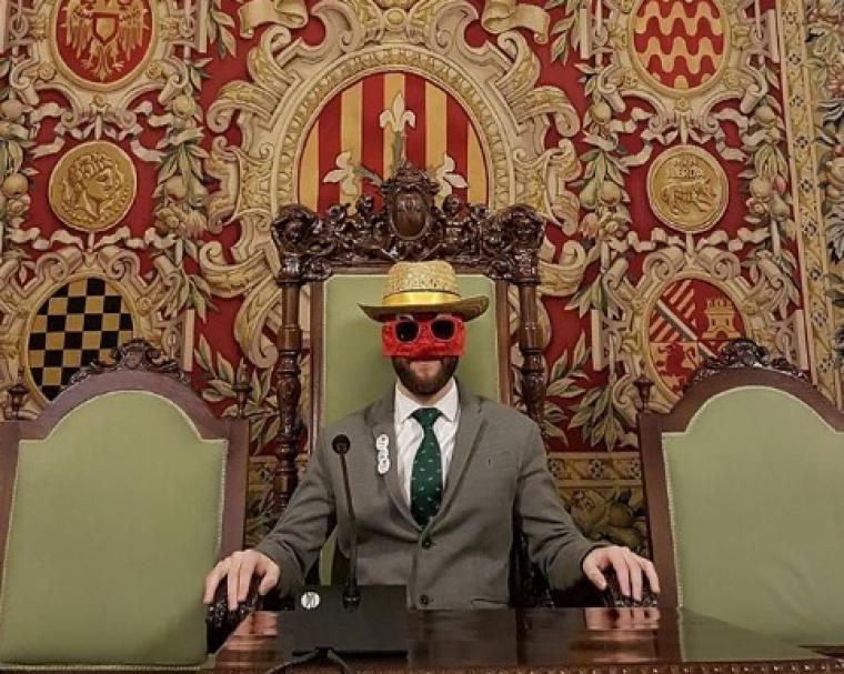 Imatge del Postureig en la cadira d'alcalde