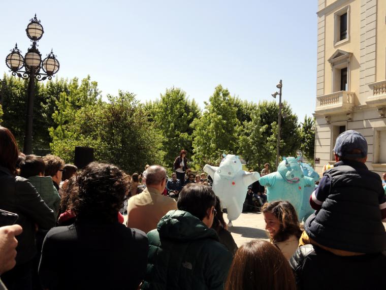 Imatge pla general de l'espectacle Hippos