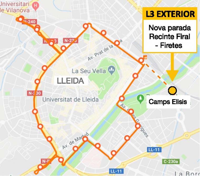 Mapa de la línia L-3