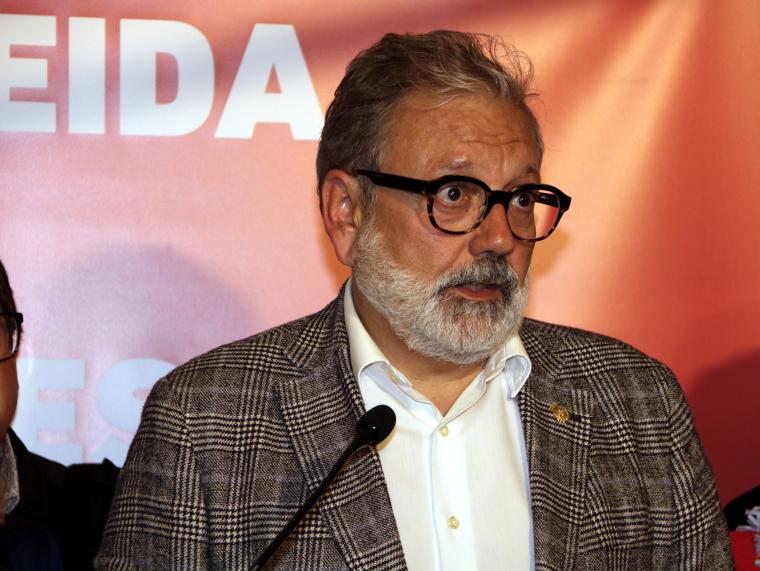 Pla curt del candidat del PSC i alcalde de Lleida, Fèlix Larrosa