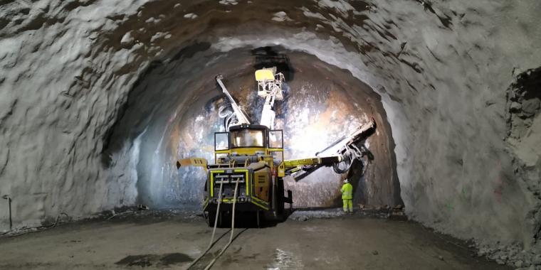 Pla general de la part perforada del túnel de Tresponts