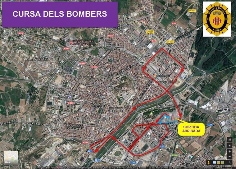 Plànol de la cursa de 10km