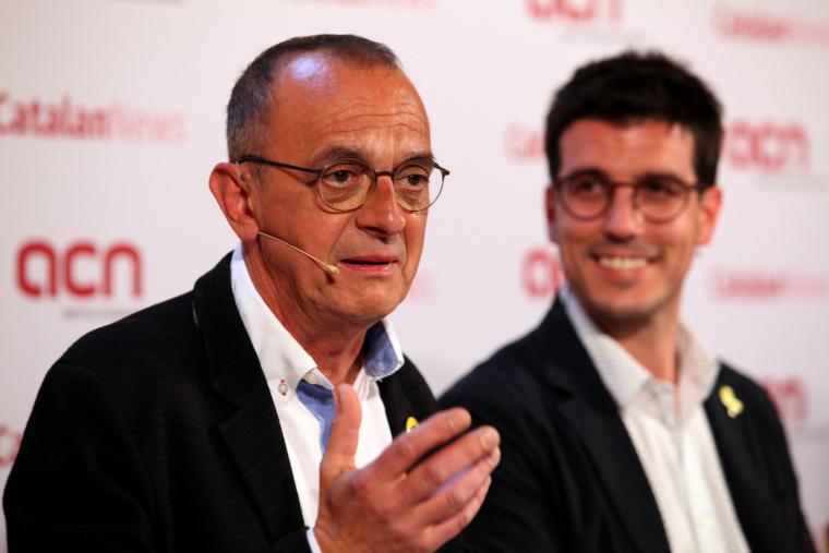 Toni Postius, cap de llista de Junts per Catalunya Lleida, i Miquel Pueyo, cap de llista d'ERC