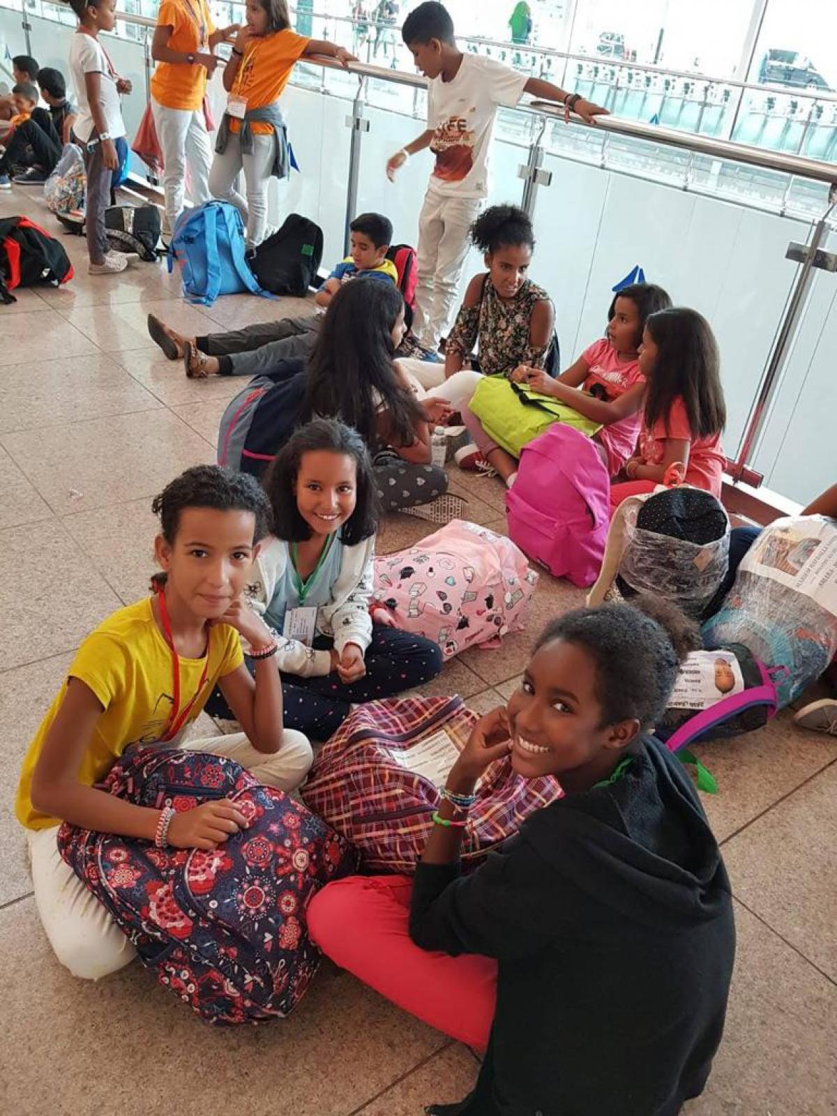 Alguns dels infants sahrauís