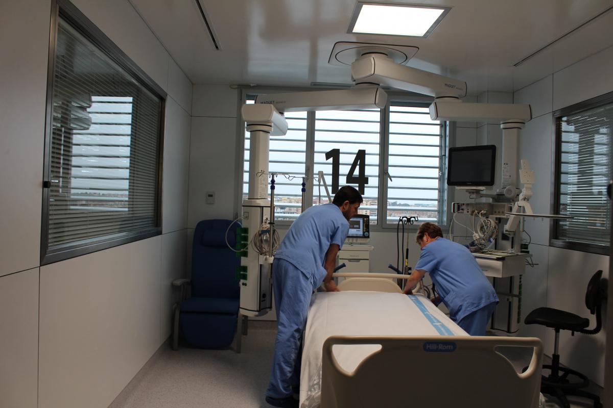 Imatge d'una habitació de l'UCI de l'Arnau