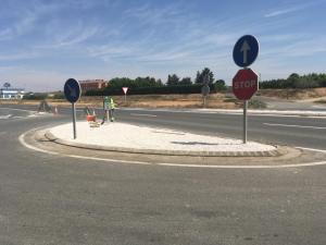 Imatge de l'arranjament de la carretera d'Alcarràs