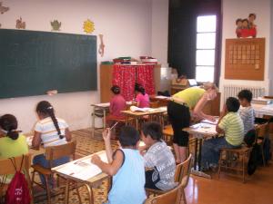 Imatge de l'aula de repàs del 2017