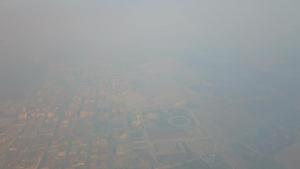 Imatge del fum a Almacelles