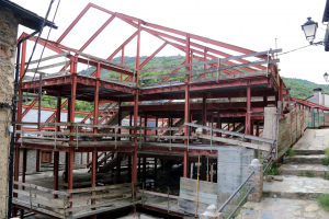 Pla general de l'estructura de l'edifici a mig construir