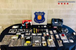 Pla general dels objectes robats i recuperats pels Mossos d'Esquadra