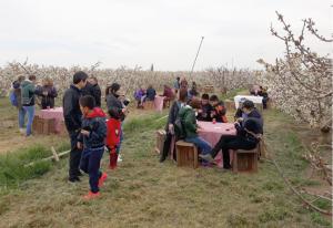 Red Flavors va organitzar un vermut entre flors el passat 31 de març a la finca Prunus