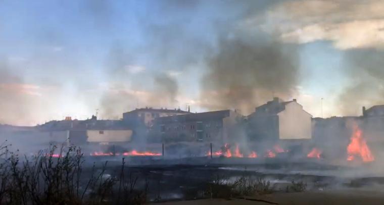 Cremen uns camps abandonats a Almacelles.