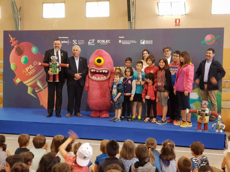 Imatge de la recollida de l'escola de Bellaguarda