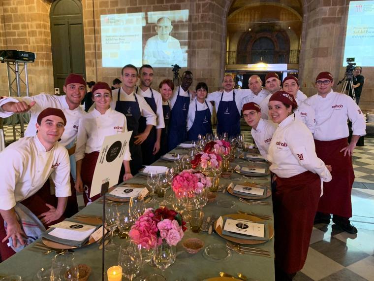 L'equip del restaurant La Boscana